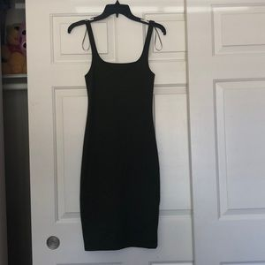 NEVER WORN tight olive green dress.